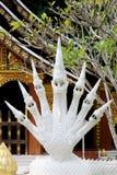 Sete dirigiram o rei da estátua do naga no templo Foto de Stock Royalty Free