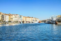 Sete, Languedoc-Roussillon, south of France. Sete - fascinating small town on the French Mediterranean coast known as the Venice of Languedoc stock photos