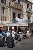 La mauvaise reputation restaurant - the famous restaurant from the song of Georges Brassens died in 1981. Sete - France - 18 August 2017 - La mauvaise reputation stock images