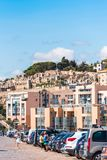 SETE, FRANCE - SEPTEMBER 10, 2017: View of the city cemetery. Copy space for text. Vertical. SETE, FRANCE - SEPTEMBER 10, 2017: View of the city cemetery. Copy Royalty Free Stock Photos