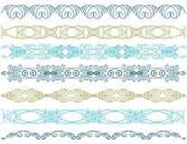 Sete linhas decorativas,    Foto de Stock Royalty Free