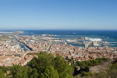 Sete, little town in France stock images