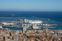 Sete, little town in France stock photo