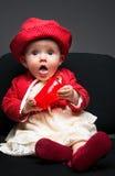 Sete meses bonitos da criança idosa do bebê Foto de Stock