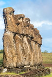 Sete Moai na Ilha de Páscoa Foto de Stock