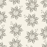 A Sete-pétala faz crochê o teste padrão de flor, ilustração ilustração do vetor
