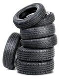Sete pneus Foto de Stock
