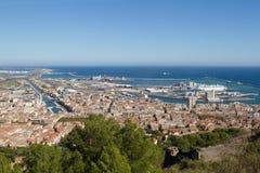 Sete, pouca cidade em France Imagens de Stock