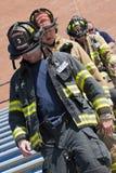 SETEMBRO 11, 2011 - escalada memorável da escada do sapador-bombeiro Foto de Stock