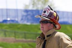 SETEMBRO 11, 2011 - escalada memorável da escada do sapador-bombeiro Imagens de Stock Royalty Free