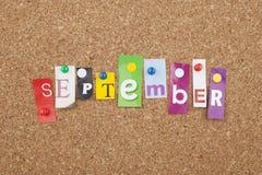 setembro fotografia de stock