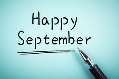 setembro feliz fotos de stock