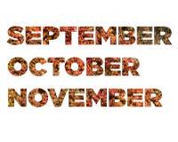 setembro, outubro, novembro Imagem de Stock Royalty Free