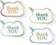 Seten av anförandebubblor - tacka dig Arkivbild