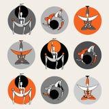 Seten av yoga poserar. Royaltyfri Bild