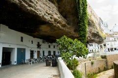 Setenil de las Bodegas - Ισπανία στοκ φωτογραφία με δικαίωμα ελεύθερης χρήσης