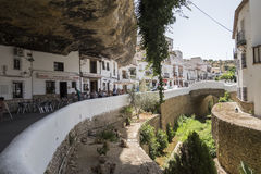 Setenil de las Bodegas, Καντίζ, Ισπανία στοκ εικόνες