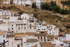 Setenil de las bodegas;安达卢西亚;西班牙 库存图片