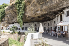 Setenil de las Bodegas, Cadiz, Spanje stock afbeeldingen