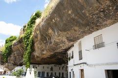 Setenil de las Bodegas - Spanje royalty-vrije stock afbeelding