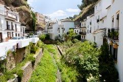 Setenil de las Bodegas - Spanje stock afbeelding