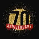 Setenta años del aniversario de logotipo de la celebración 70.o logotipo del aniversario Imágenes de archivo libres de regalías
