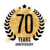 Setenta anos de aniversário dourado Foto de Stock Royalty Free
