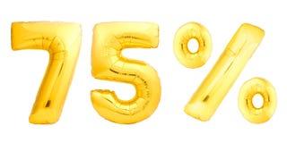 Setenta cinco 75 por cento dourados Fotos de Stock
