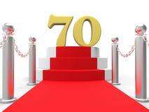 Setenta de oro en la alfombra roja muestra celebridades libre illustration