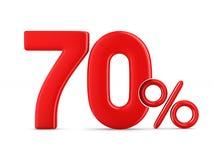 Setenta por cento no fundo branco Ilustração 3d isolada Fotografia de Stock