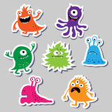 Seth bright charming cute monsters Stock Image