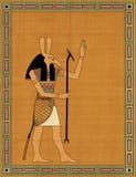 Seth the egyptian evil god. Horos the egyptian evil god in the frame Royalty Free Stock Images