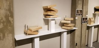 Seth Ehrlich Boxes Exhibit photographie stock