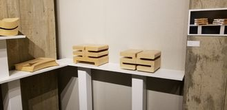 Seth Ehrlich Boxes Exhibit photo stock