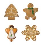 Seth gingerbread. Celebration of New Year and Christmas royalty free stock photos