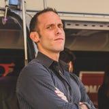 Seth Gold av den Hardcore TV-serie pantsätter på Fuorisalone under M Royaltyfri Foto