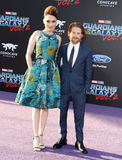 Seth Green and Clare Grant. At the Los Angeles premiere of `Guardians Of The Galaxy Vol. 2` held at the Dolby Theatre in Hollywood, USA on April 19, 2017 Stock Photography