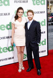 Seth Green und Claire Grant Stockfotos