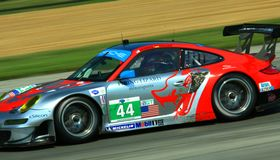 Seth Neiman races the Porsche Royalty Free Stock Image