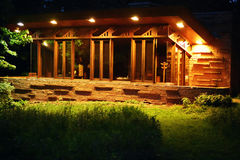 Seth Peterson Cottage na noite foto de stock royalty free
