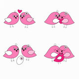 Seth pink love birds Stock Photo