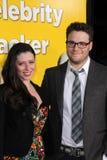 Seth Rogan, Lauren Miller stockbild