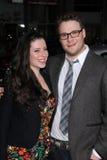 Seth Rogan, Lauren Miller lizenzfreie stockfotos