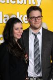Seth Rogan, Lauren Miller stockfotos