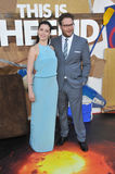 Seth Rogen & Lauren Miller royaltyfria bilder