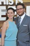 Seth Rogen & Lauren Miller fotografia stock libera da diritti