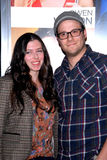 Seth Rogen,Lauren Miller Royalty Free Stock Photography
