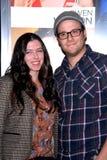 Seth Rogen,Lauren Miller royalty free stock photography