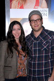 Seth Rogen,Lauren Miller royalty free stock images