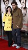 Seth Rogen och Lauren Miller royaltyfri bild